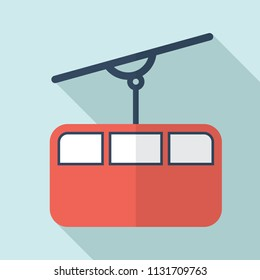 Funicular icon.Funicular railway