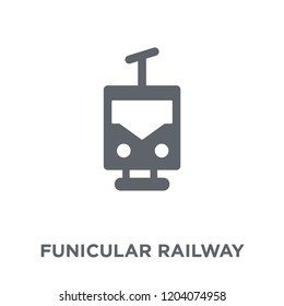 funicular railway icon. funicular railway design concept from Transportation collection. Simple element vector illustration on white background.