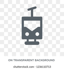 funicular railway icon. funicular railway design concept from Transportation collection. Simple element vector illustration on transparent background.