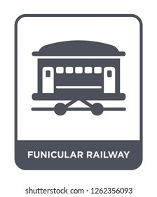 funicular railway icon vector on white background, funicular railway trendy filled icons from Transportation collection, funicular railway simple element illustration