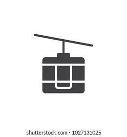 Funicular vector icon. filled flat sign for mobile concept and web design. Cable car simple solid icon. Symbol, logo illustration. Pixel perfect vector graphics