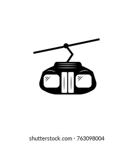Funicular vector icon on white background