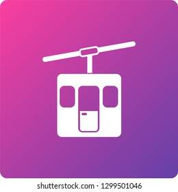 funicular vector icon. funicular single web icon on trendy gradient