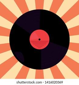 funk disco vinyl vector ilustration