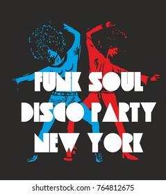 Funk soul girls graphic design vector art