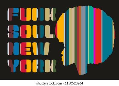 Funk Soul graphic design vector art