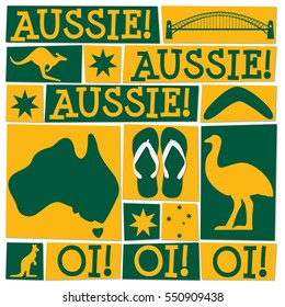 Funky Australia Day card in vector format.