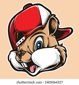 funky chipmunks vector and logo
