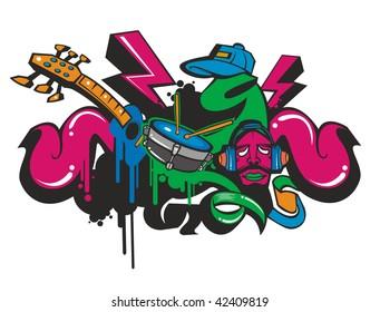 funky doodle paint