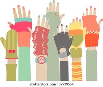 Funky gloves