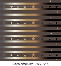 Funky Gradient Pattern with Stripes and Stars.Great for wedding cards, postcards, t-shirts, bridal invitations, brochures, posters, gift wrapping, baby shower cards, wall art, etc.Vector Illustration.
