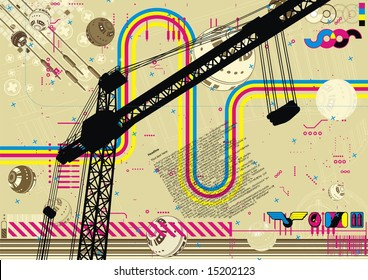 Funky hectic design for the construction industry.