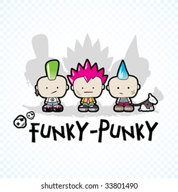 Funky - Punky Vector Illustration