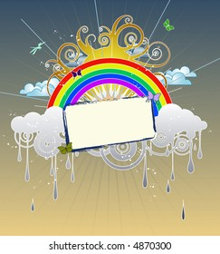 Funky Rainbow Graphic