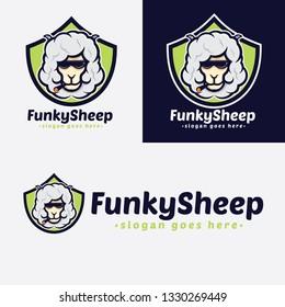 Funky Sheep Cartoon Logo