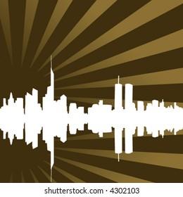 funky skyline - vector -