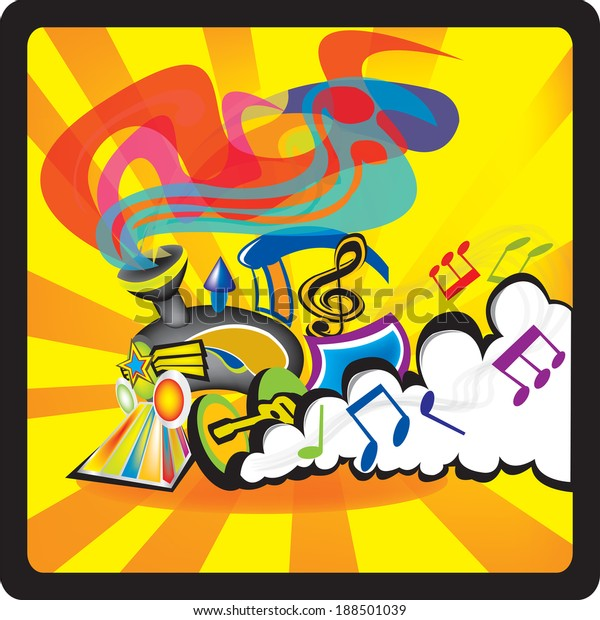 Funky Soul Train Stock Vector Royalty Free 188501039
