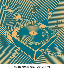 Funky turntable music design