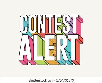 Funky typographical contest alert symbol