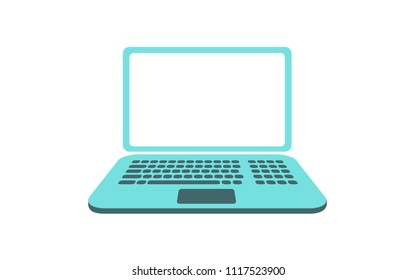 Funky vector image of a colorful laptop
