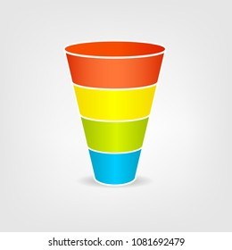 Funnel chart images stock photos vectors shutterstock funnel chart diagram infographic clipart isolated on white background ccuart Image collections