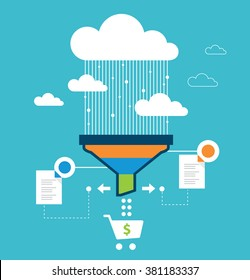 Funnel conversion, sales funnel, website optimization