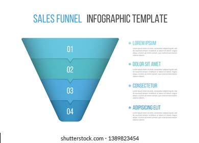 Funnel diagram, business infographic template, vector eps10 illustration