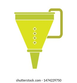 funnel icon. flat illustration of funnel vector icon. funnel sign symbol