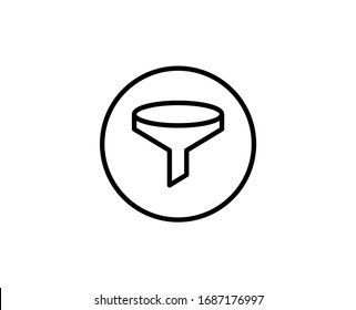 Funnel line icon. Vector symbol in trendy flat style on white background. Web sing for design.
