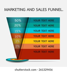 Funnel for presentation or infographics.