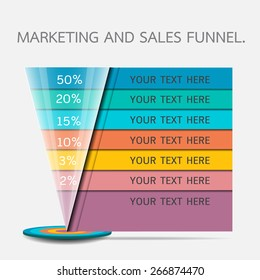 Funnel for presentation or infographics