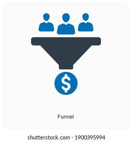 Funnel shaped desk icon concept
