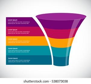 Funnel Vector illustration