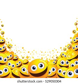 Funny Abstract Smiley Background. For Text and Design.