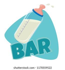 funny baby milk bar clip-art
