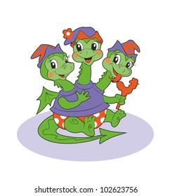 Funny baby-dragon