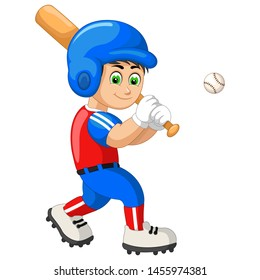 Funny Baseball Player Cartoon For Your Design