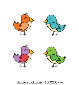 Funny Birds Character Vector Design
