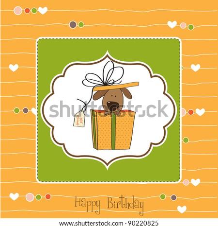 Funny Birthday Card With Dog
