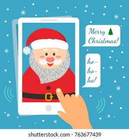 funny birthday card with new year and christmas a man is calling santa on a - Christmas Funny Pics