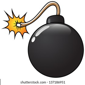 Funny Bomb Vector Illustration