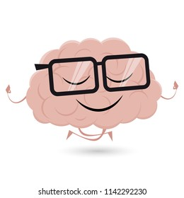 funny brain is doing yoga