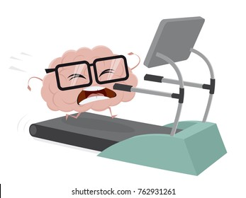 funny brain training on a treadmill