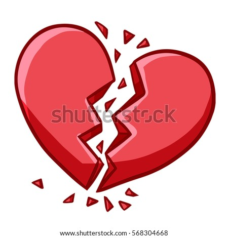 Funny Broken Heart Symbol Vector Stock Vector Royalty Free