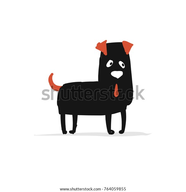 Funny bulldog, sketch for your design. Vector illustration