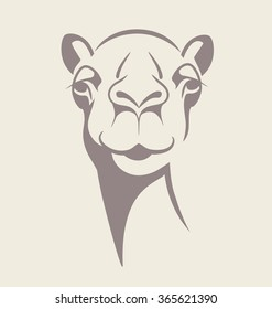 funny camel face vector illustration for T shirt, poster, print design.