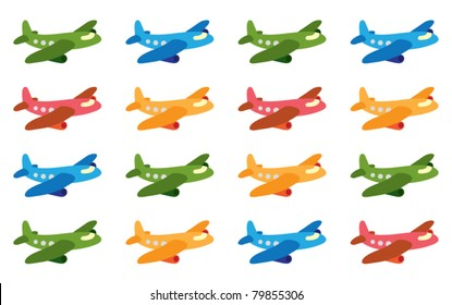 funny cartoon airplane pattern