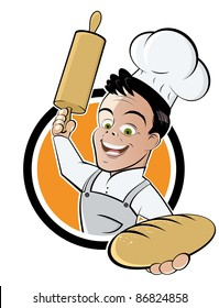 funny cartoon baker