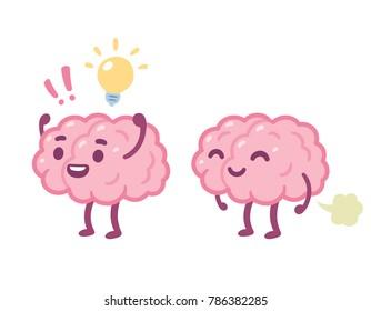 brain cartoon images stock photos vectors shutterstock rh shutterstock com Simple Cartoon Brain heart and brain cartoon images