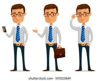 funny cartoon businessman
